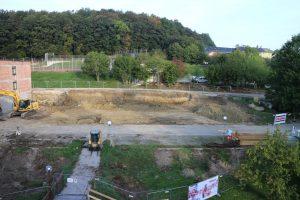 Anfang September wurde mit den Erdaushubarbeiten begonnen.